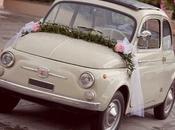 L'auto degli sposi…le decorazioni floreali
