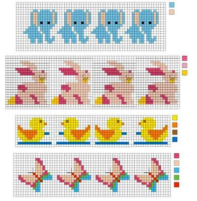 Ricami a punto croce bavaglini per neonati paperblog for Ricami punto croce neonati