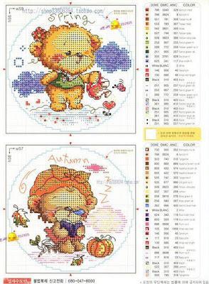 Ricami punto croce bambini soda paperblog for Ricami a punto croce per neonati