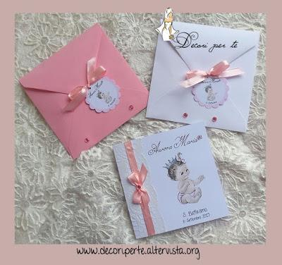 Ben noto INVITI BATTESIMO BIMBA - Baptism Baby girl invitation - Paperblog KT56