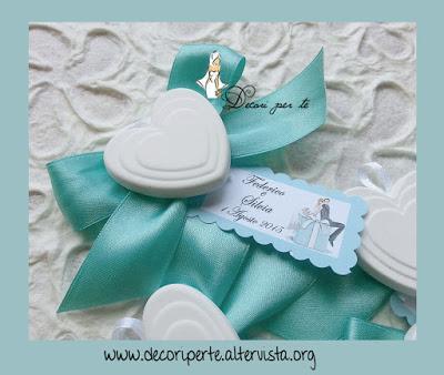 Segnaposto Matrimonio Tiffany.Segnaposto Con Gesso Profumato Tiffany Tiffany Place Card