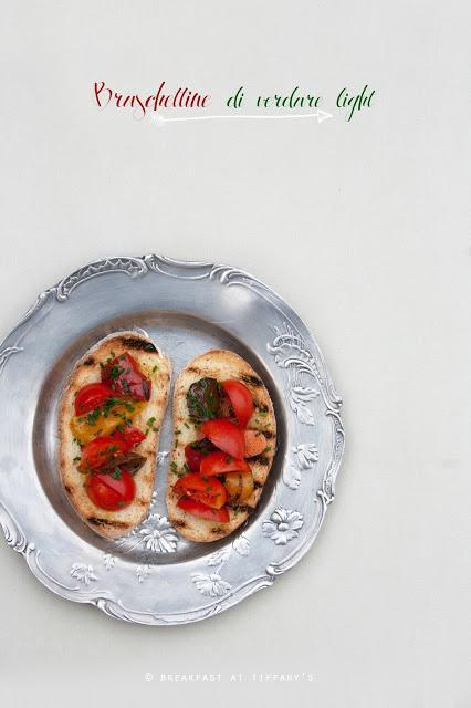 Bruschettine di verdure light / Light Italian bruschetta