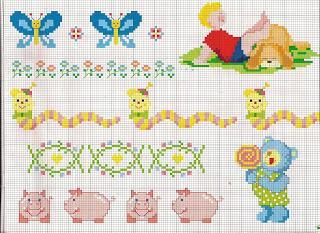 Punto Croce Schemi Facili Per Bambini Paperblog