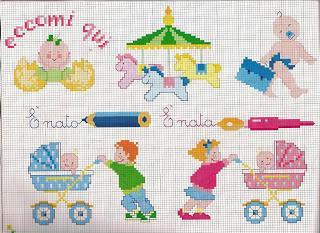 Punto croce schemi facili per bambini paperblog for Schemi lenzuolini punto croce