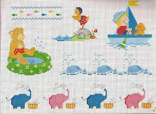 Punto croce schemi facili per bambini paperblog for Schemi punto croce per bavaglini