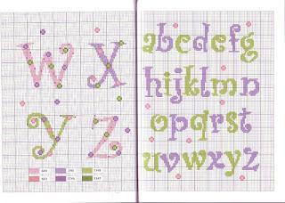 Schemi alfabeti a punto croce per bambini paperblog for Lettere alfabeto punto croce per bambini