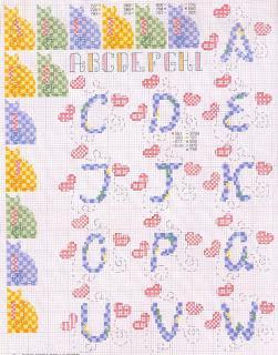 Schemi alfabeti a punto croce per bambini paperblog for Alfabeto a punto croce per neonati