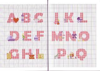 Schemi alfabeti a punto croce per bambini paperblog for Schemi punto croce alfabeto bambini