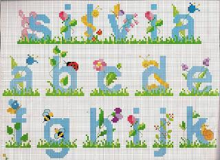 Schemi alfabeti a punto croce per bambini paperblog for Punto croce bimbi schemi