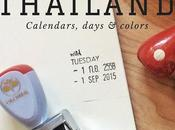TRAVEL NOTES Thailand: Calendars, days colors.