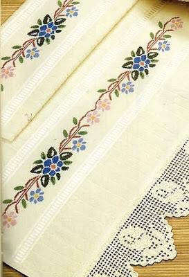Schemi punto croce - asciugamani bagno - Paperblog