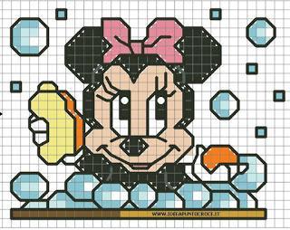 Disney Baby Cross Stitch Paperino Topolino Minnie Pluto Paperblog