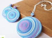 Gioielli fimo Spirale Fimo clay Swirl jewels