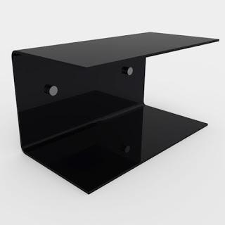 Mensola in plexiglass per bagno trasparente bianca e nera paperblog - Mensole bagno plexiglass ...