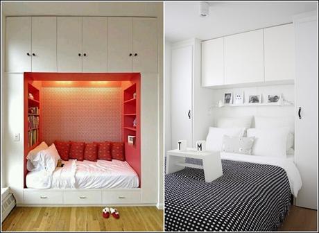 Letto matrimoniale per stanza piccola idee per il design for Arredare camera da letto di 10 mq