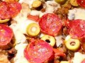 Pizza MELANZANE forno, provolone DOLCE salamino PICCANTE