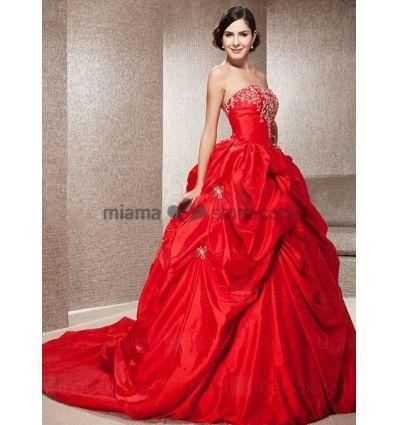 65d30fff5775 Vestiti da sposa rossi 2016 – Modelli alla moda di abiti 2018