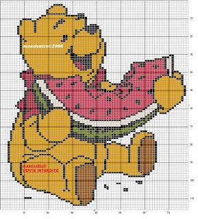 Schemi punto croce per bavaglini e copertine for Winnie the pooh punto croce schemi