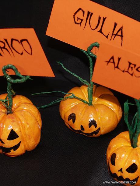 Halloween fai da te tutorial zucca segnaposto progetto for Zucca di halloween fai da te