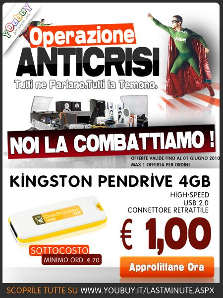 PENDRIVE USB 4GB. KINGSTON DATA TRAVELER G2 – OFFERTA SOTTOCOSTO!