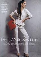 RED, WHITE AND BRILLANT... Allure June 2010 withCoco Rocha by Patrick Demarchelier