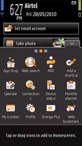 Orange Tsunami: Home alternativa per Nokia 5800 con Widget