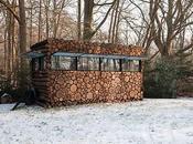 Tree-trunk garden house Piet Hein
