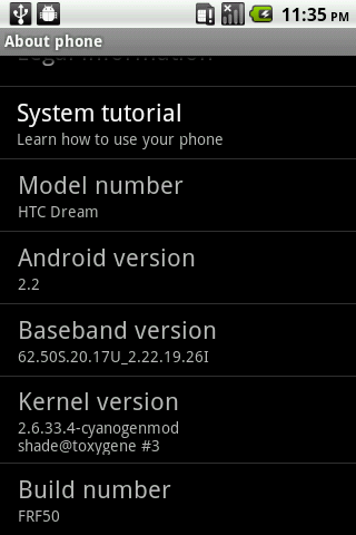 Android Froyo 2.2 per HTC Dream e Magic