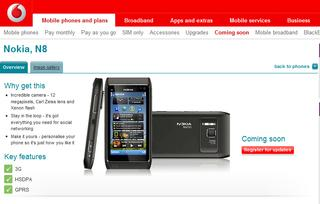 Nokia N8 in arrivo su Vodafone UK – Coming soon