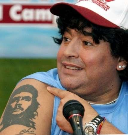 ARGENTINA: 7° TATUAGGIO PER MARADONA, E' IL NOME DEL NIPOTE - ARGENTINA: 7° TATOO FOR MARADONA, IT'S HIS NEPHEW'S NAME