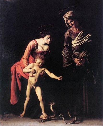 Caravaggio madonna dei palafrenieri