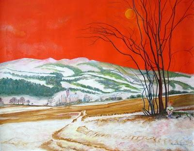 Oils on canvas  74,5 x 50 cm .NEVE  D'INVERNO  .....WINTE...