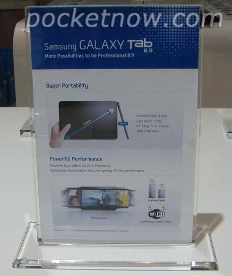 Samsung Galaxy Tab 8.9 e Galaxy S2 Mini: Primi Dettagli