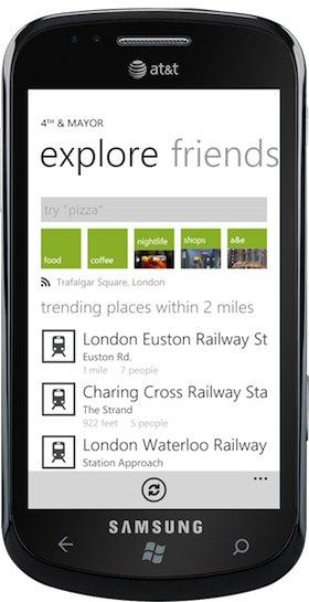 4th and major foursquare client windows phone 7 4th & Major, client per Foursquare su Windows Phone 7