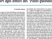 Secolo d'Italia omaggia Fatto Quotidiano prima pagina