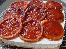Torta allo yogurt arance caramellate