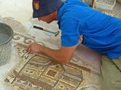 Israele: scene egizie mosaico pavimentale bizantino