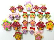 Casette Natalizie orecchini ciondoli (christmas house earrings)