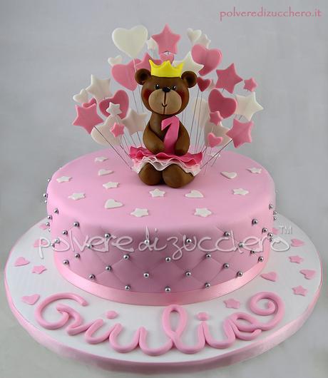 Amato Torta in pasta di zucchero per un primo compleanno di una bimba  WP89