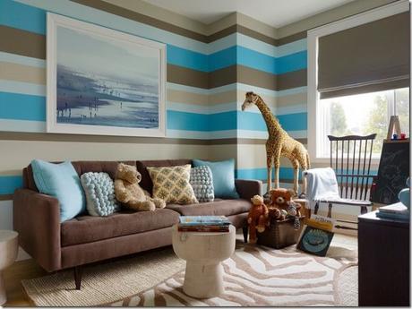 Pareti A Strisce Shabby : Pareti a strisce con le pareti grigio tortora chiaro la tua casa
