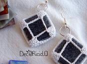 Nuovi orecchini mosaico cotone fotografico improvvisato