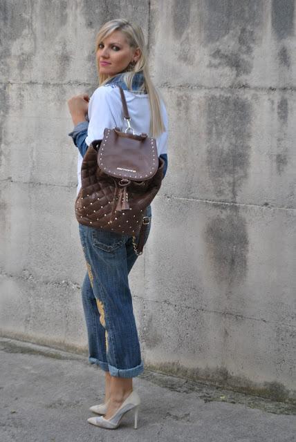 Outfit denim total look come abbinare i boyfriend jeans - Pimkie boyfriend jeans ...