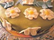 Torta pasta zucchero crema chantilly yogurt mirtilli