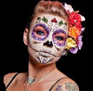 Body Painting Calavera Mexicana