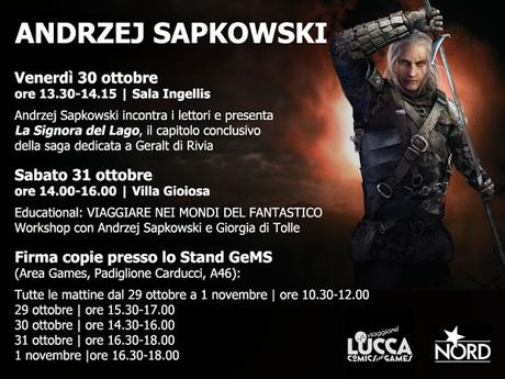 ANDRZEJ SAPKOWSKI  a Lucca Comics and Games 2015