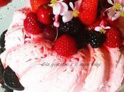 Torta frutti rossi senza cottura No-bake berry cake