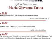 Maria Giovanna Farina presenterà libro: GIARDINO DELLA MELE, violenza deve vincere, occasione della GIORNATA INTERNAZIONALE CONTRO VIOLENZA SULLE DONNE, novembre 2015