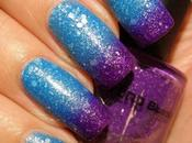 Glitter Thermal Nail Polish Violet-Light Blue from Born Pretty Swarches Review