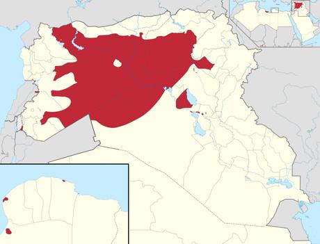Territori conquistati dall'IS, fino ad oggi.