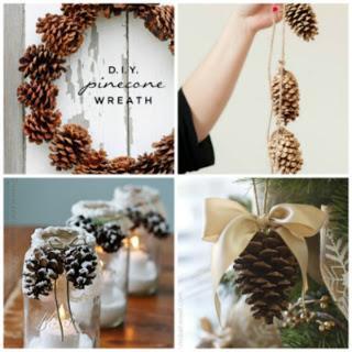 Decorazioni di natale fai da te con le pigne paperblog - Decorazioni natalizie con le pigne ...